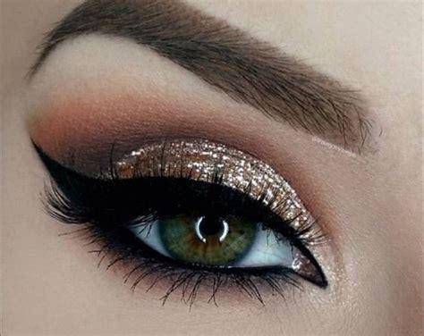 make up gold modern eye makeup ideas gold glitter with grey smokey