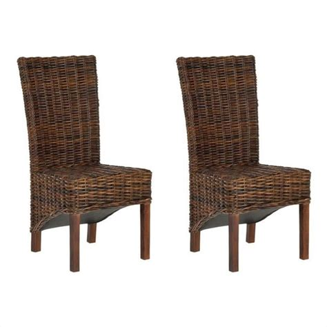 Safavieh Rattan Dining Chairs by Safavieh Ridge Rattan Dining Chair In Croco Color Set Of