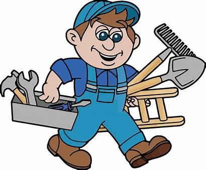 Handyman Clipart Worker Repair Maintenance Transparent Improvement