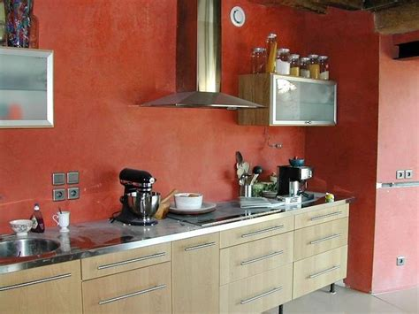 cuisine mur en mur de cuisine béton ciré cuisine
