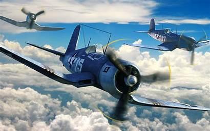 War Flying Corsair F4u Formation Wallpapers Battles