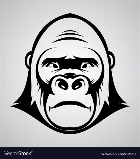 cartoon gorilla face   clip art carwadnet
