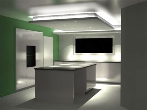 isolation hotte cuisine plafond suspendu ilot isolation idées