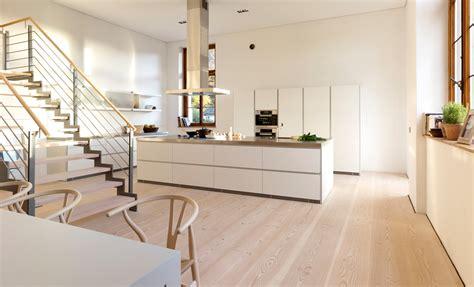 Eine Offene Küche Mit Dinesen Douglasie Dielenboden Ist