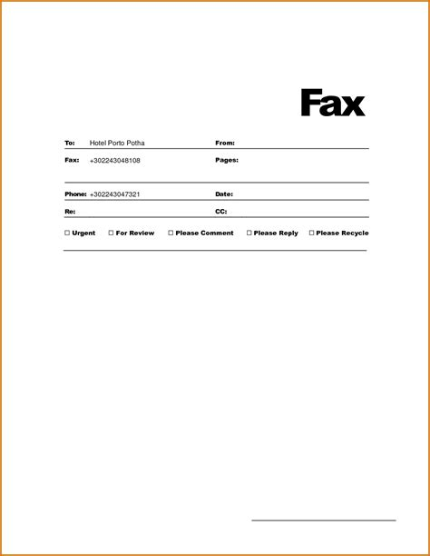 fax cover sheet template free fax cover sheet free docs fax template