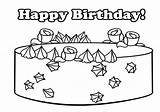 Coloring Birthday Cake Pages Happy Clipartqueen sketch template