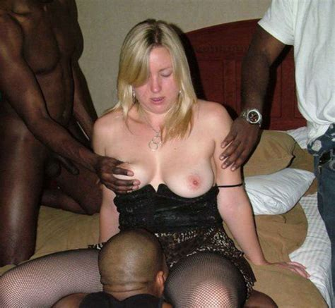 Wife In Gangbang Sex With Several Black Men Interracial