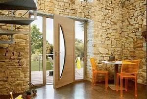 Porte D Entrée En Bois Moderne : comment choisir sa porte d 39 entr e choix design et mat riau ~ Nature-et-papiers.com Idées de Décoration