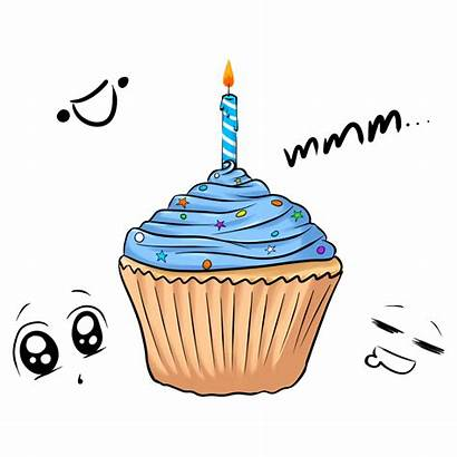 Cake Animation Cupcake Birthday Cup Clipart Happy