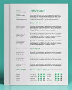 Free Resume Templates 20 Free Editable Cv Resume Templates For Ps Ai