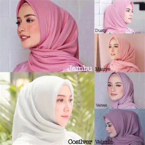 grosir daily hijab jilbab segiempat part  bella square double hycon part  shopee indonesia