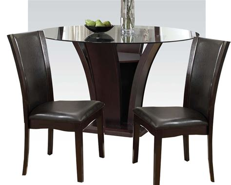 round table dinette sets dining set w 54in round table malik by acme furniture