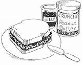 Peanut Butter Sandwich Coloring Drawing Jelly Pages Clipart Cliparts Clip Reeses Jam Printable Sketch Peanuts Sweet Library Clipartbest Getdrawings Pdf sketch template