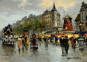 Peinture De Paris Poissy : antoine blanchard le moulin rouge peinture tableau en vente ~ Premium-room.com Idées de Décoration
