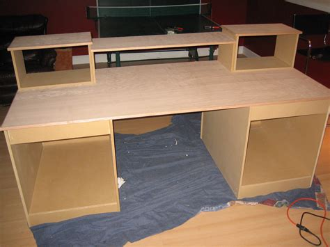 how to build a computer desk diy desk build inspired by many gearslutz pro audio