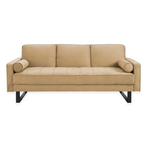 serta convertible sofa in beige buy comfortable convertible sofa from bed bath beyond