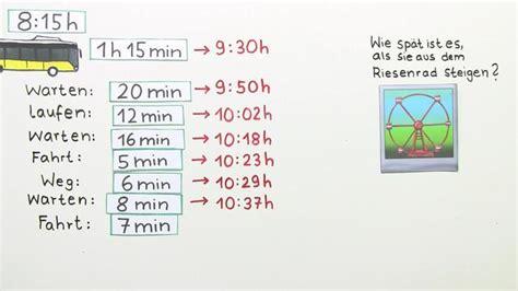 zeit sachaufgaben mathematik  lernen
