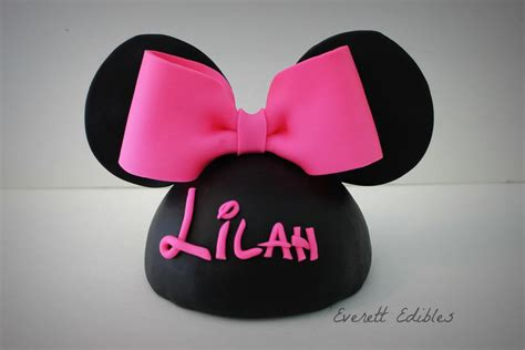 minnie mouse ears cake topper decoration custom cakes