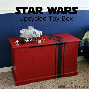 Star Wars Upcycled Toy Box {with free SVG file} - Addicted