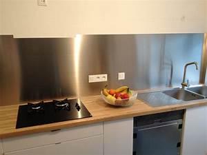couleur credence cuisine aluminium blanc Crédences Cuisine