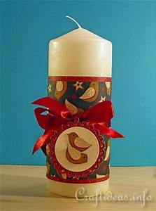 Christmas Craft Project Gift Idea Christmas Candles