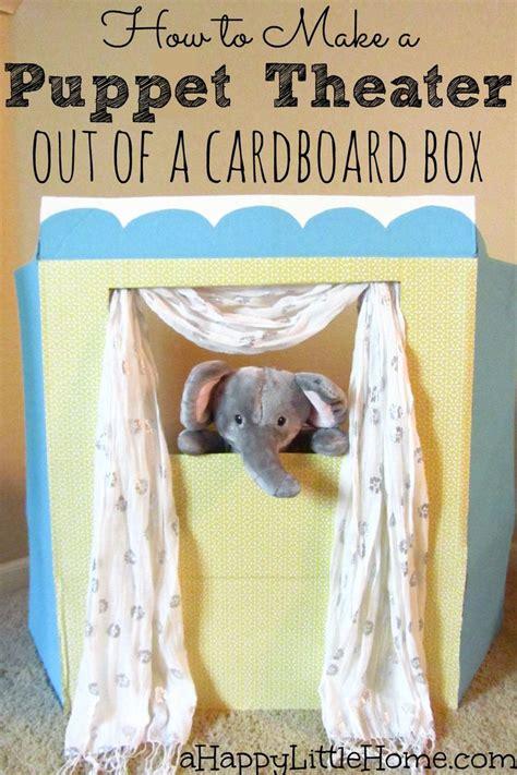 puppet theater    cardboard box
