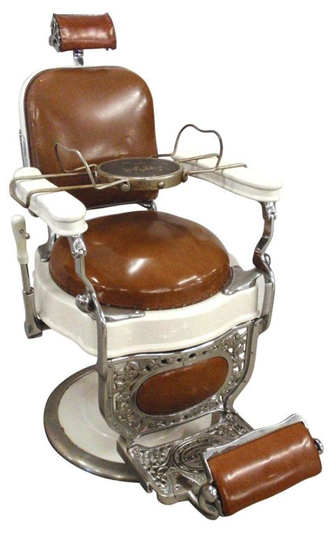 Kochs Barber Chair Value by Barber Chair Mfgd By Theo Koch Chicago White Porcelain W