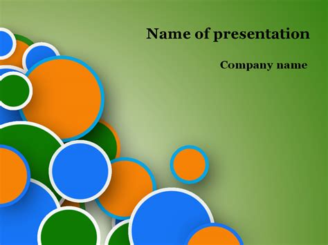 fun powerpoint free bubbles powerpoint template for presentation