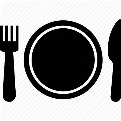 Plate Icon Dinner Buffet Setting Restaurant Place