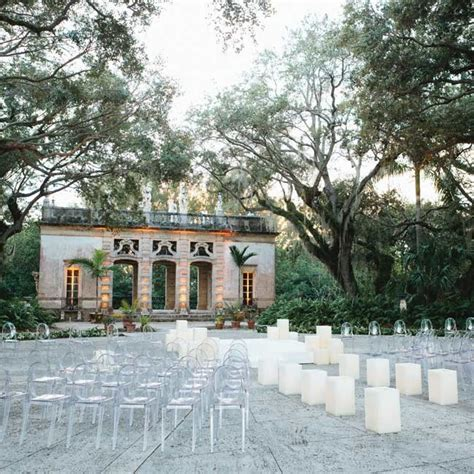 the ceremony was held at dusk on the mount at vizcaya