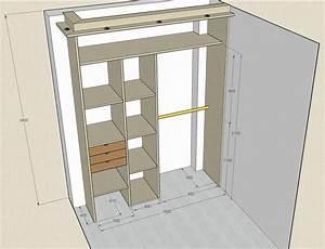 Construire Un Placard : r aliser un dressing par une d butante forum menuiseries ~ Premium-room.com Idées de Décoration