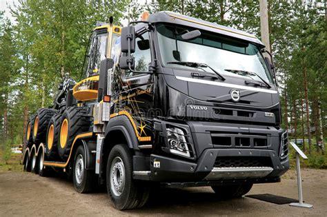 volvo fmx truck  finnmetko  editorial stock