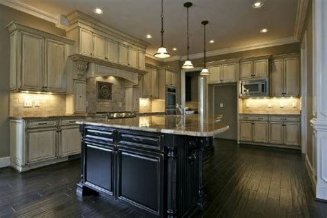 antique black kitchen table antique white glazed cabinets and black kitchen island in