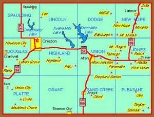 Union County Iowa Map