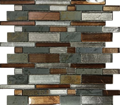 Glass Mosaic Tile Kitchen Backsplash by Sle Metallic Brown Glass Mosaic Tile