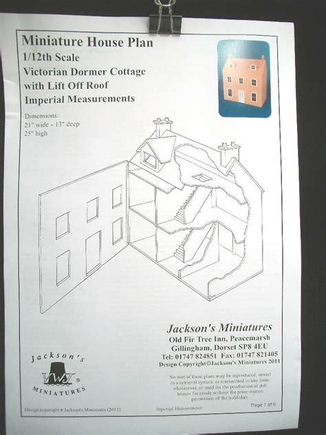 dollhouse plans victorian dormer cottage front opening