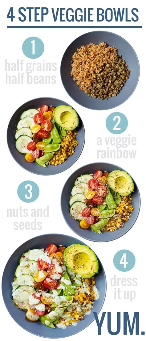 rainbow veggie bowls  jalapeno ranch recipe pinch  yum