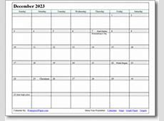 December 2018 Printable Calendars Print as many as you want