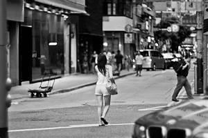 Pretty Girl Walking Down The Street | Helios 40 85mm F1.5 ...