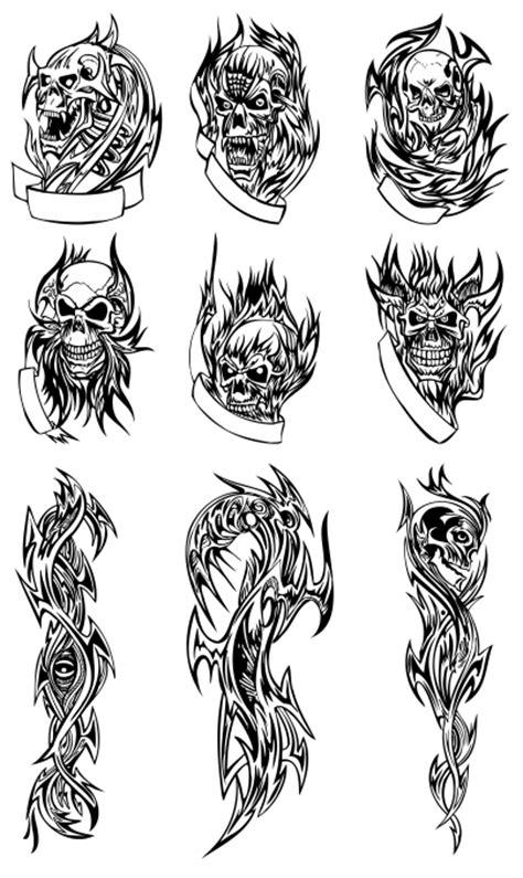 skull tattoo   format coreldraw belajar