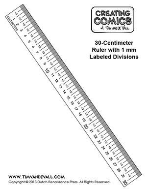 centimeter ruler template creating comics