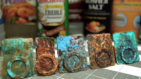 copper patinas  recipes  patina copper metal