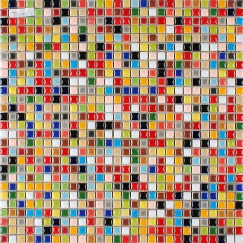 multi color porcelain tile kitchen floor small chips glazed ceramic mosaic bravotticom