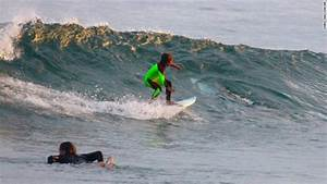 Shark Appears Dangerously Close To Surfing Boy Cnn