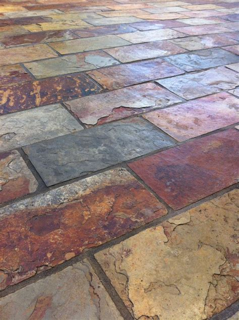 outdoor slate tile colorful and rich slate tile with copper accent colors by scarlett s landscape inc http