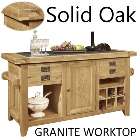 granite top kitchen island lyon solid oak furniture large granite top kitchen island