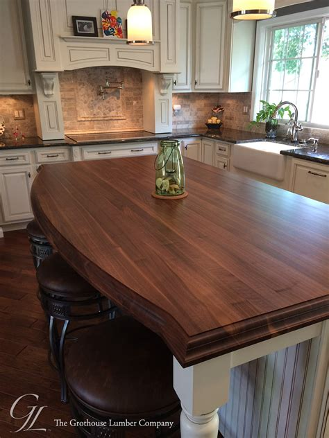 custom walnut kitchen island countertop  columbia maryland