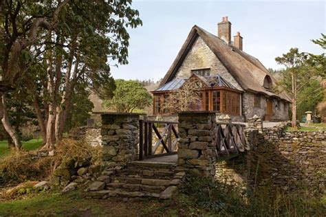 Ireland Cottage by A Thatched Roofed Cottage House