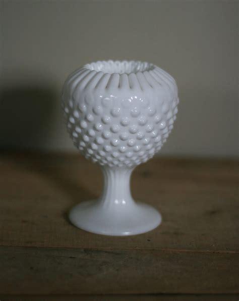 milk glass vintage milk glass hobnail vase