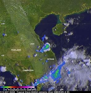 NASA measures Haikui's remnant rainfall over southern Vietnam
